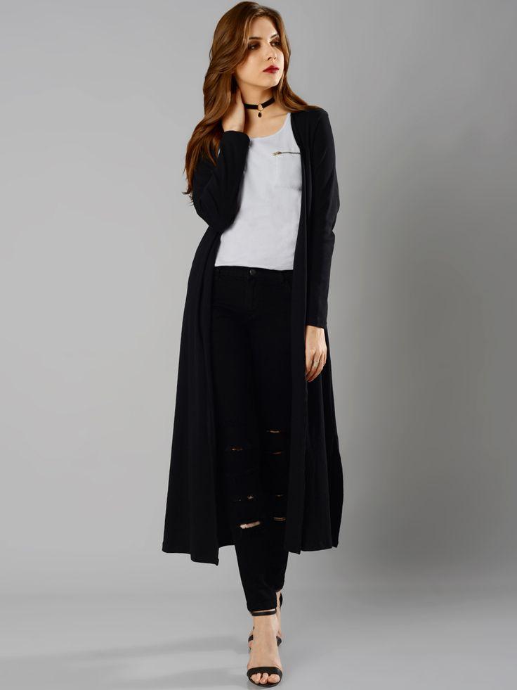 FabAlley Masaba #Black #Longline #Shrug #women #style #fashion #trendy