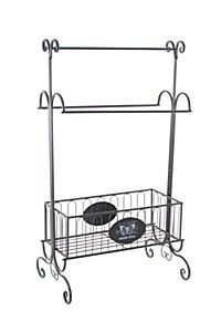 LOTIONS AND POTIONS TOWEL STAND
