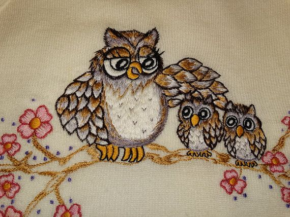 Vintage Shirlee Sweater Hoot Owls Hooters Momma by TheIDconnection, $75.00