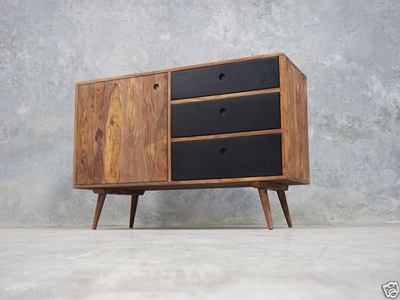 Retro danish scandinavian sideboard buffet furniture for Sideboard scandi
