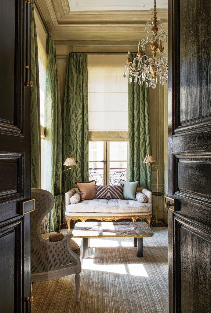 doors, floor, windows, draperies...
