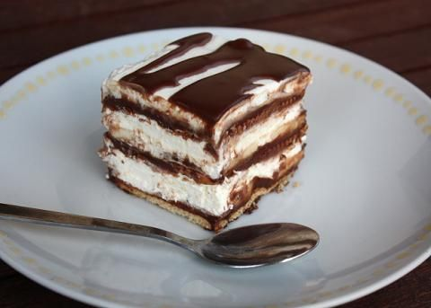 Čokoládovo-smotanové lasagne - recept postup 6