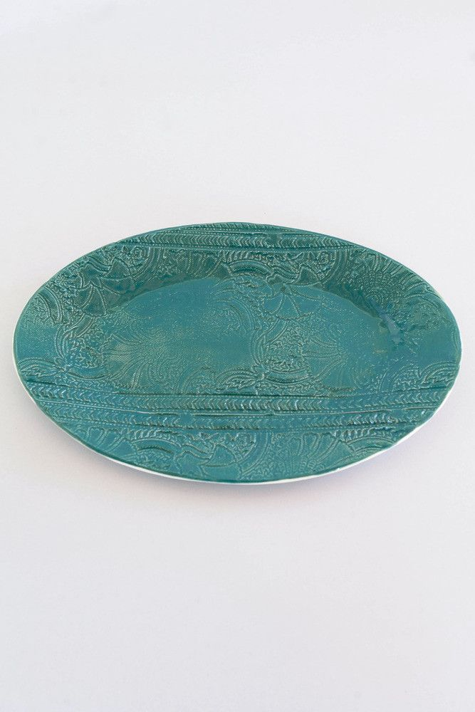 Paisley Stamped Oval Dish – Umba