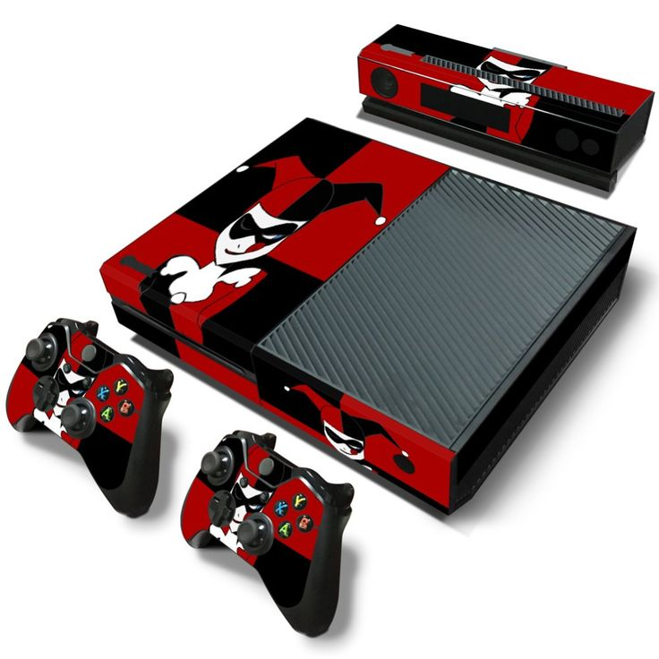 Joker and Harley Quinn skin sticker for xbox one PVC cover for console xbox one+gamepad+kinect skins stickers for xbox one game