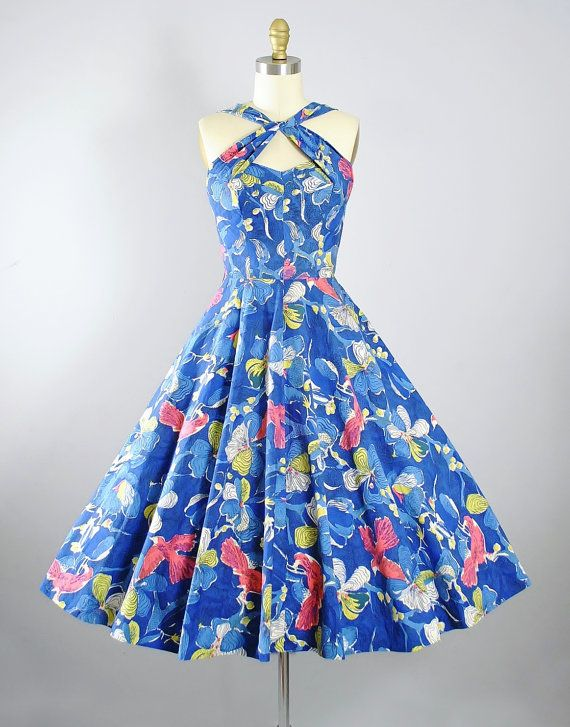 17 Best images about Vintage Dresses 1950s-Blue, Silver and White ...