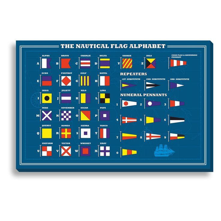 New Era Nautical Flag Alphabet Indoor/Outdoor Canvas Print - NE73306