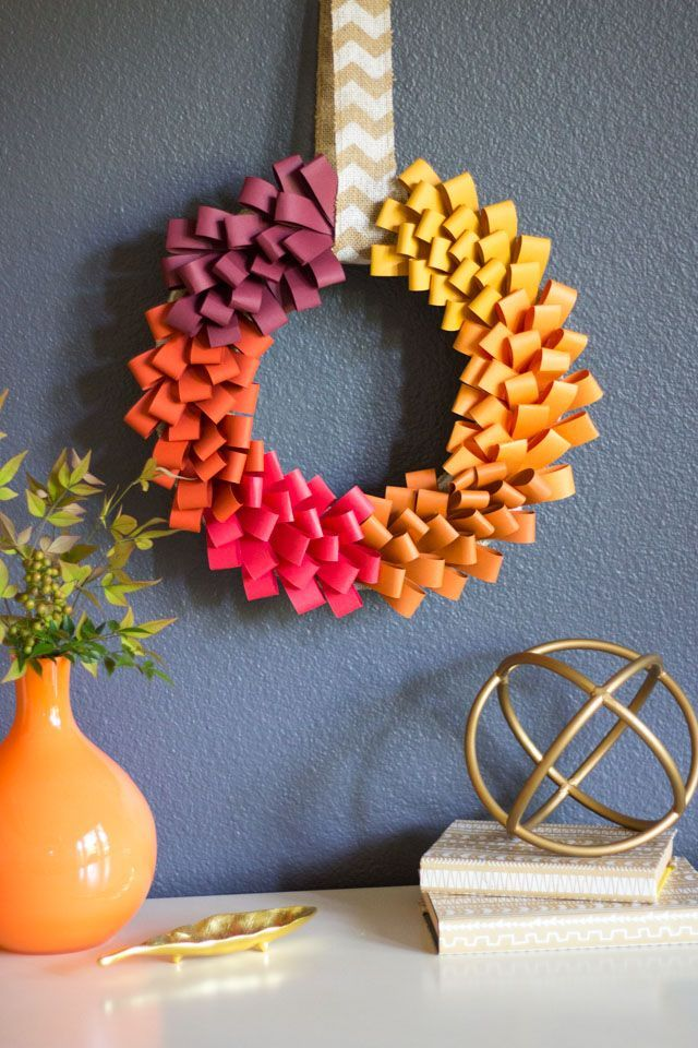 493 best images about diy projects for the home for Fall decorating ideas with construction paper