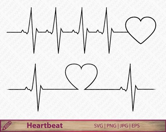 Heartbeat Svg Dxf Png Love Clipart Love Life Medical Etsy Heart Rate Tattoo In A Heartbeat Clip Art