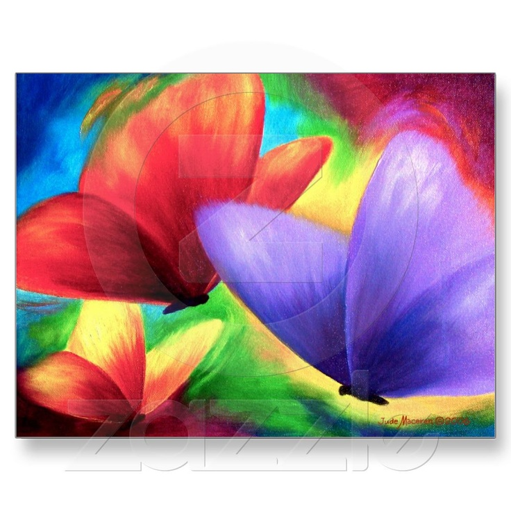 SchmetterlingePostcards, Painting Art, Rainbows Colors, Acrylics Painting, Happy Colors, Colors Butterflies, Painting Colors, Butterflies Painting, Bright Colors