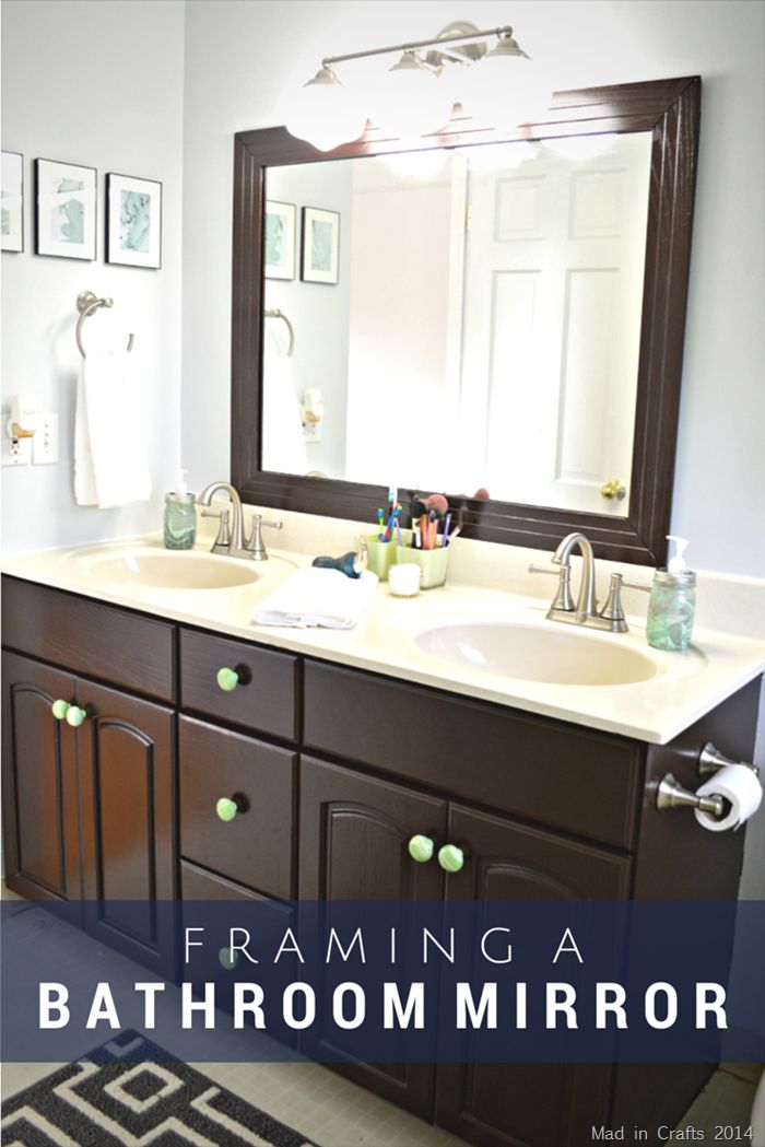 1000 ideas about frame bathroom mirrors on pinterest for Bathroom mirror ideas