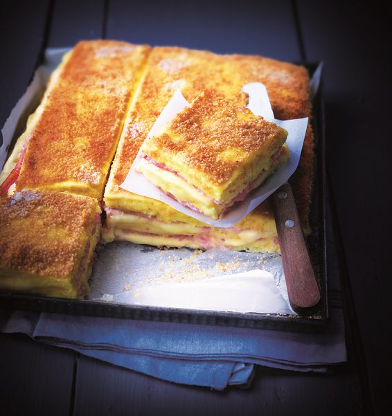 croque monsieur polenta. what a great idea!