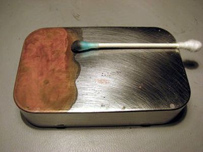 how to copper plate an Altoids tin
