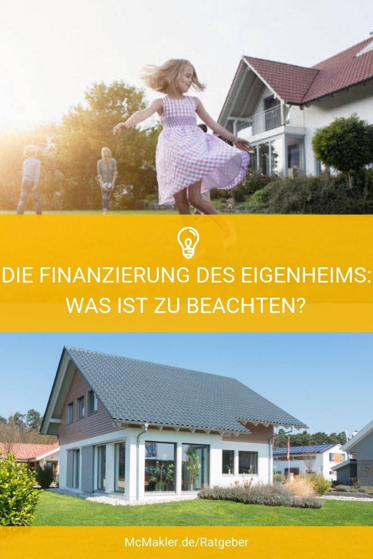 Mcmakler Die Finanzierung Des Eigenheims Immobilienkauf Finanzierung Immobilien