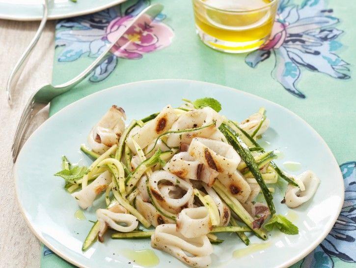 insalata-di-calamaretti-alla-griglia-e-zucchine preparazione