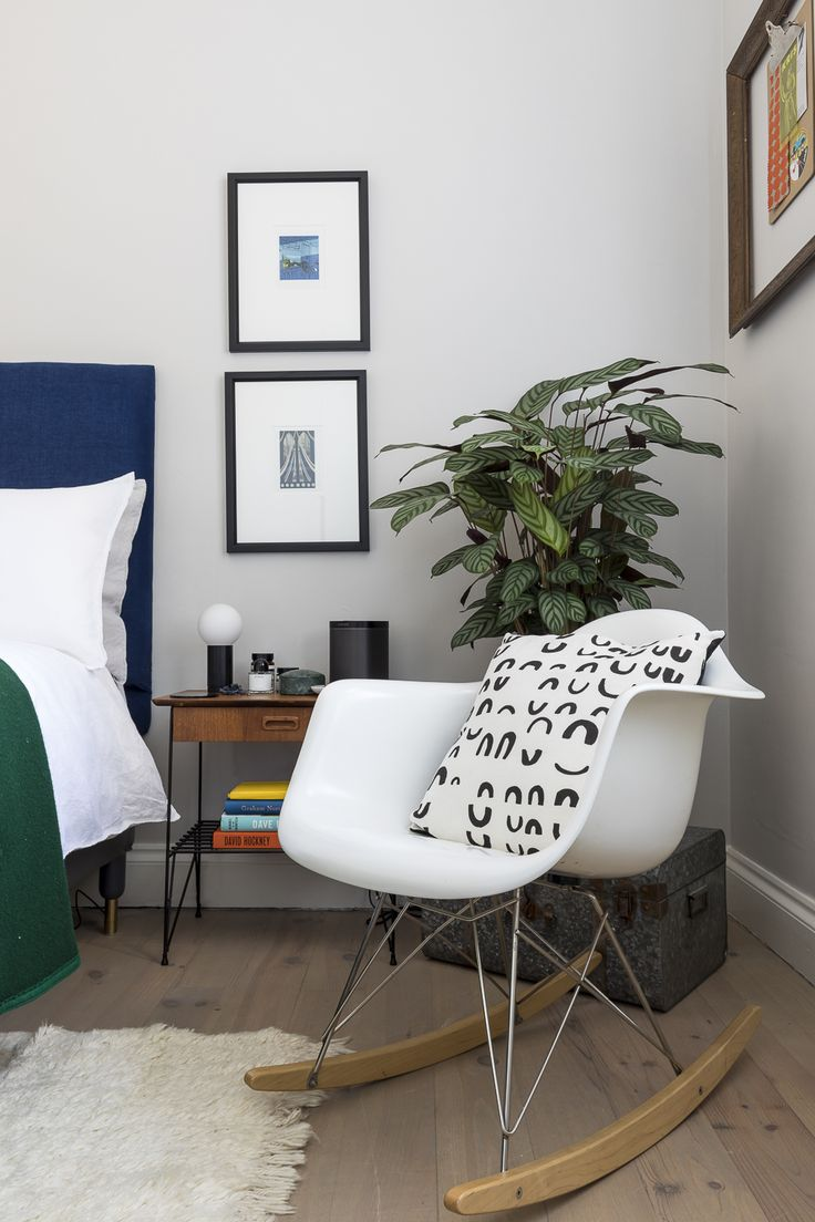 Eames Rocker Chair In The Master Bedroom Design