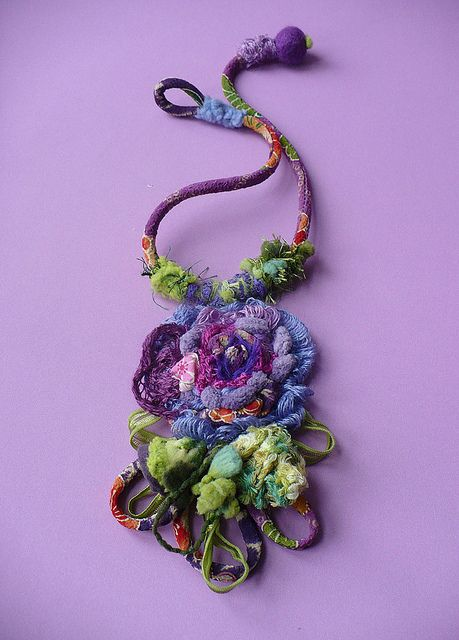 fabric art pendant...lovely!