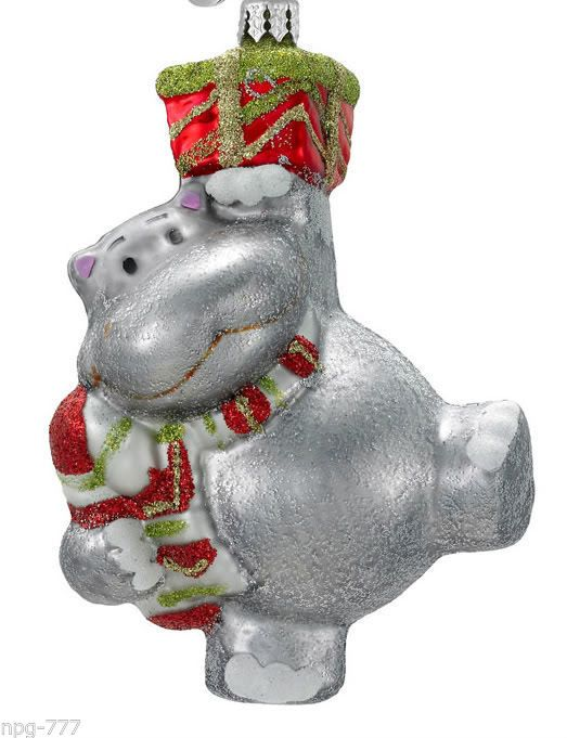 NEW CHRISTOPHER RADKO CELEBRATIONS CHRISTMAS Ornament Hippo Hippopotomus  w/scarf | Christmas Ornaments I | Pinterest | Christmas Ornaments, Christmas  and ... - NEW CHRISTOPHER RADKO CELEBRATIONS CHRISTMAS Ornament Hippo