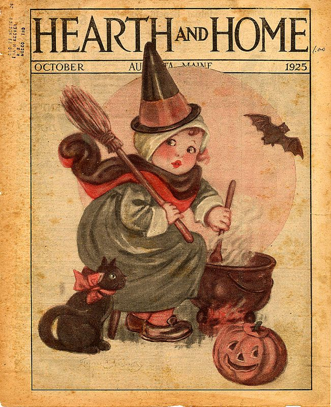 hearth and home halloween cover | Bucks County Folk Art: Antique Hearth and Home Images For You