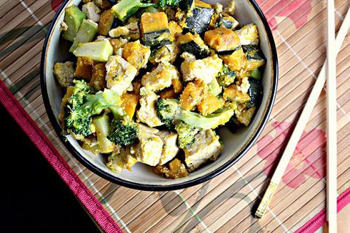 Maple-Miso Glazed Tofu with Broccoli and Winter Squash Recipe « Chef ...