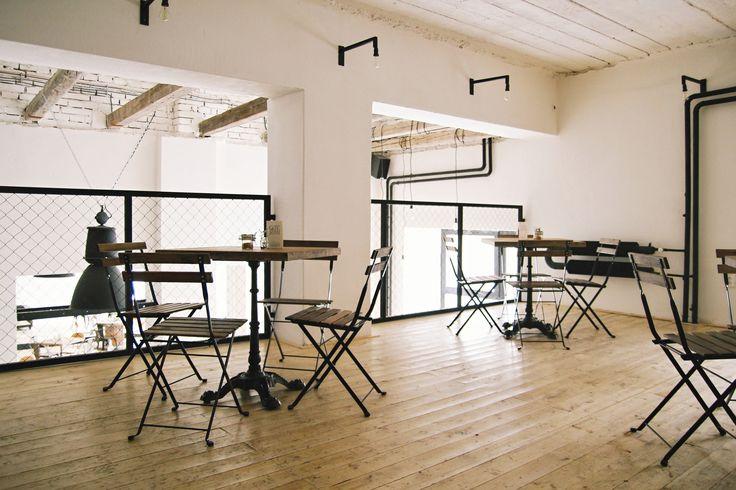 industrial interior | cafe | SKØG Urban Hub | Brno