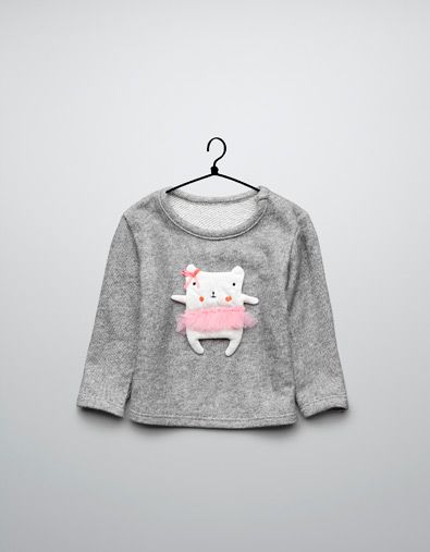 velour t-shirt with ballerina appliqué - Jogging - Baby girl (3-36 months) - Kids - ZARA United States