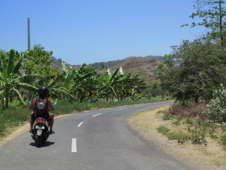 Riding through Lombok