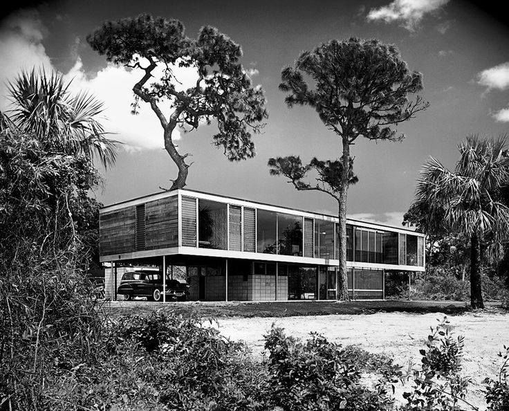 Leavengood Residence, St. Petersburg Florida. 1950/51. Ralph Twitchell & Paul Rudolph.