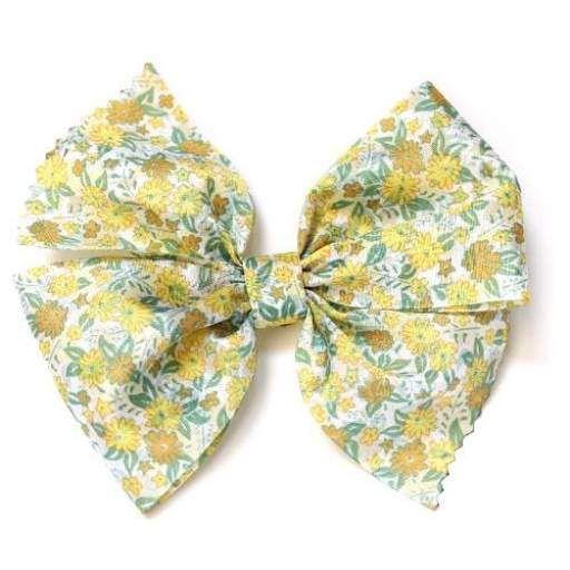 Lazo flores liberty amarillo verde