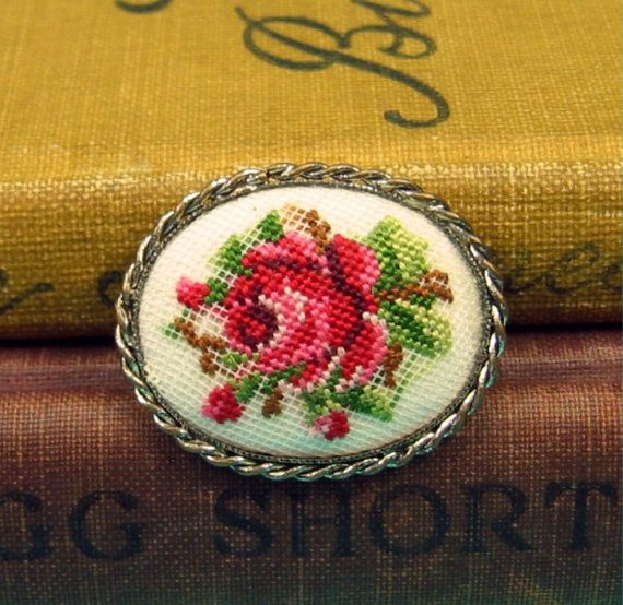 Google Image Result for http://www.goodwillvintage.net/wp-content/uploads/2011/11/Vintage-Needlepoint-Rose-Brooch.jpg