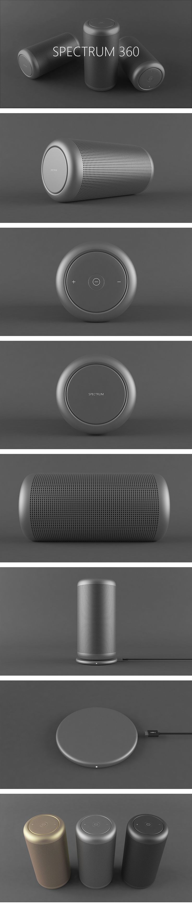 The SPECTRUM 360 is a very compact and portable wireless bluetooth speaker. It is planned to develop the most ergonomic possible design know, I left as a result of unnecessary buttons and connectors. The speaker alone the power and volume control buttons …
