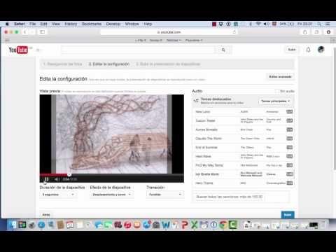 Video-tutorial: crear una presentación de diapositivas en YouTube