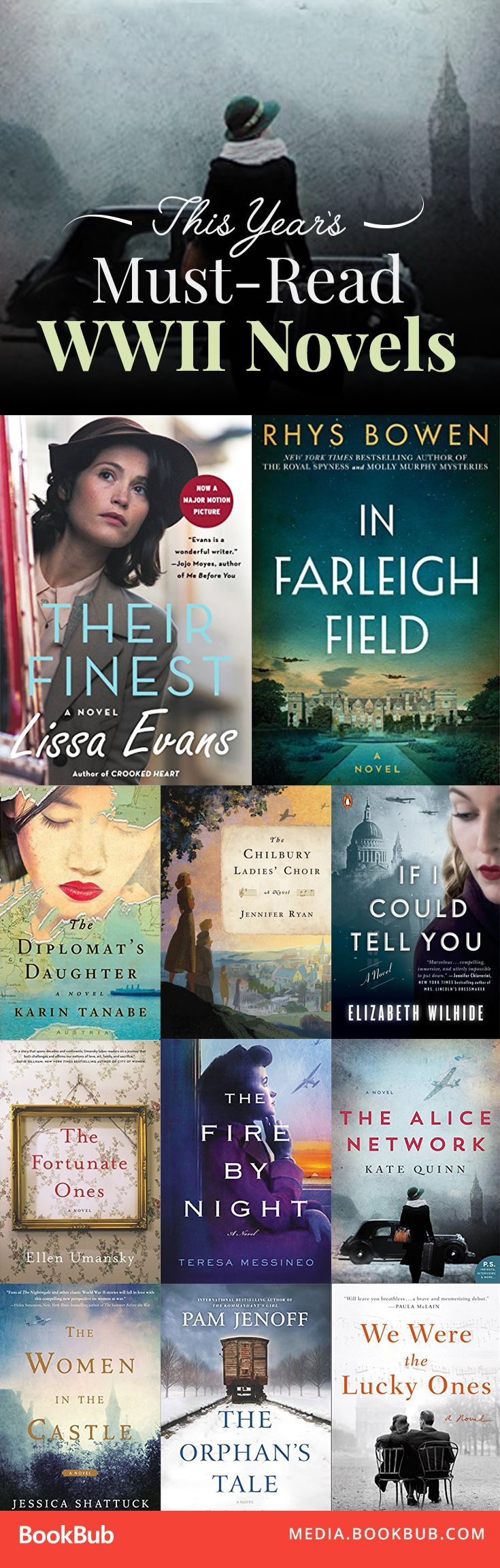 Some of the year's best history books to read. These WW2 historical fiction novels are must-reads!