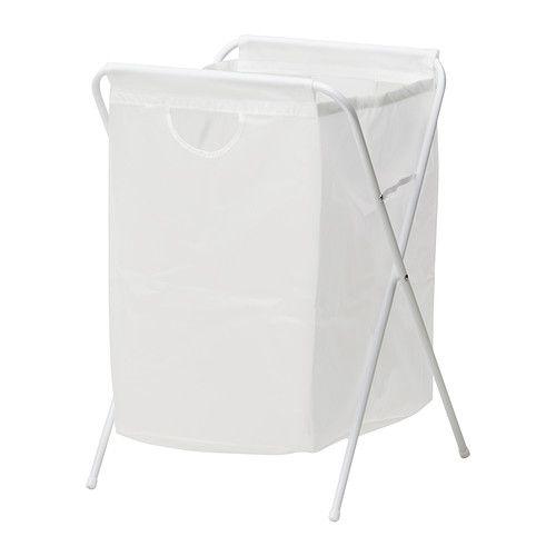 IKEA - JÄLL, Saco p/roupa c/suporte, Por ser dobrável, o saco para roupa é fácil…