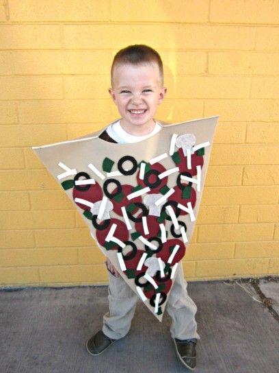 Carnevale fai da te pizza costume; slice pizza costume diy