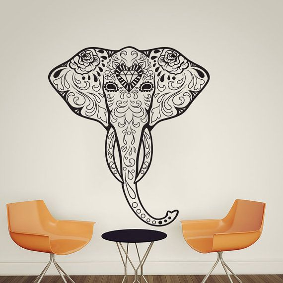 Hey, I found this really awesome Etsy listing at https://www.etsy.com/listing/201403065/elephant-ganesha-tattoo-om-mandala-wall