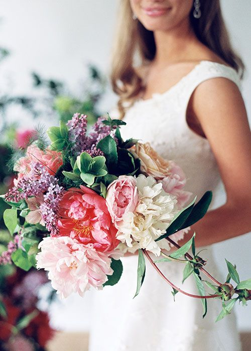Stems Charleston Florist Bold Pink Bouquet   Brides.com