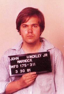 John Hinckley, Jr. (born May 29, 1955) attempted to assassinate U.S. President Ronald Reagan in Washington, D.C., on March 30, 1981, as the culmination of an effort to impress teen actress Jodie Foster.