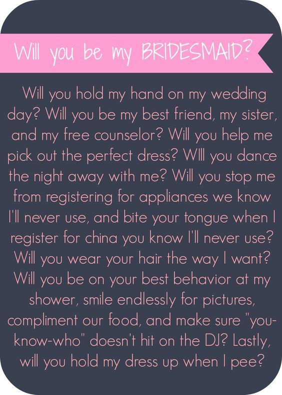 Will you be my bridesmaid letter - Lip Gloss and High Heels #wedding #printable #diy: