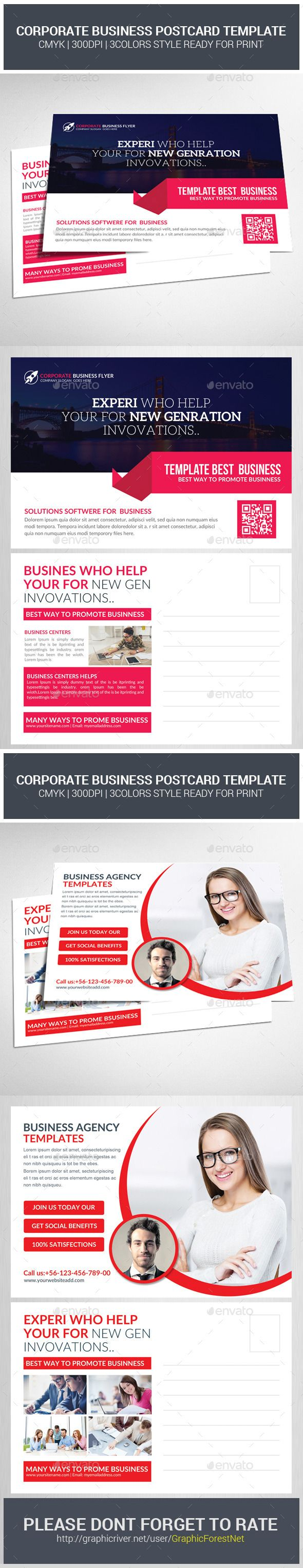 Corporate Business Postcards Bundle