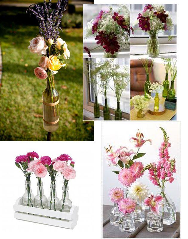 Como montar arranjos com garrafas de vidro, dicas úteis, garrafas decoradas, arranjos florais em garrafas,Veja como decorar sua mesa com uma simples garrafa