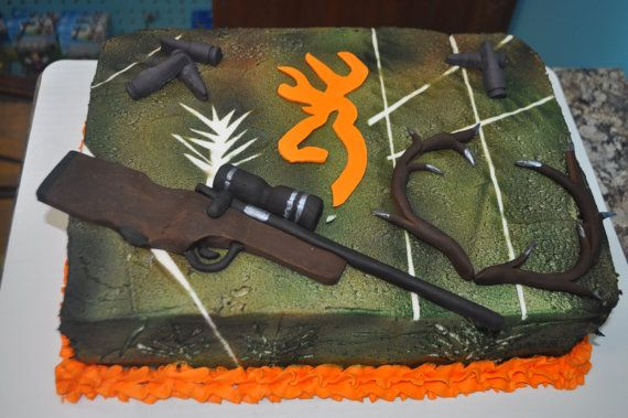 Deer Hunting themed cake topper set on Etsy, $35.00