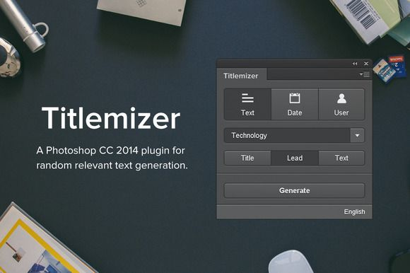 Titlemizer Photoshop Plugin by Dominik Levitsky Studio on @creativemarket
