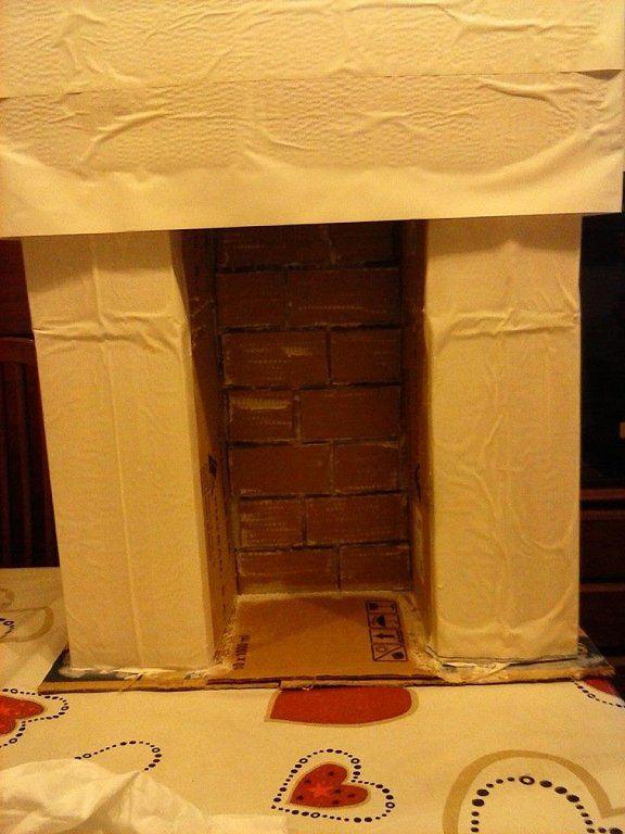 Como hacer chimeneas navide as en carton buscar con - Como construir una chimenea ...