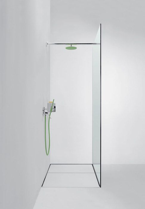 Agape, Type C Shower - Flat D system by Benedini Associati #agapedesign - Type C4P side view.