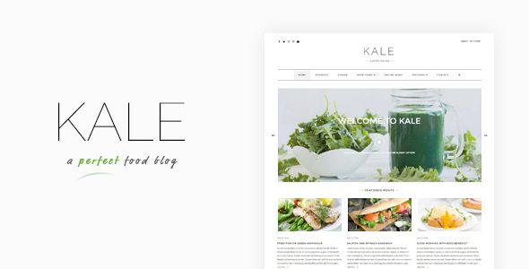 Kale - The Perfect Food and Personal Blog Theme Kale Pro is the ultimate food blog! Beautifully crafted and specifically designed to help you create a stunning food, personal, or lifestyle blog. Kale Pro is super easy to setup or migrate to. Great typography, emphasis on your photos, and some great areas to showcase some of your most important content, the theme is lightweight yet loaded with awesome features!