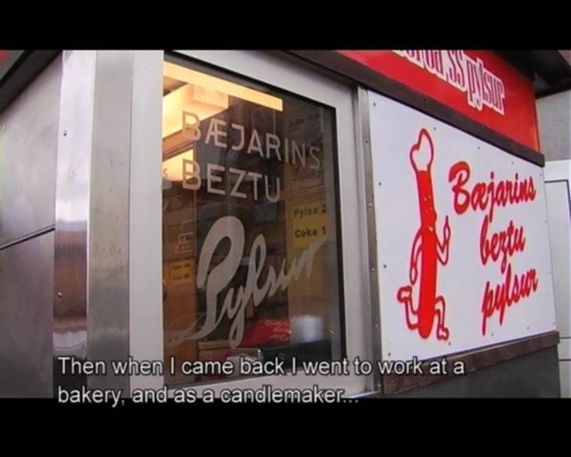 'Best In Town' by edward cook. For more than 70 years Reykjavik has been home to the shabby looking hot dog stand 'Baejarins Beztu'. Whether it is Bill Clinton or one the local bums, every day people are there waiting in line for a hot dog. In this film we witness the magic of this little place.