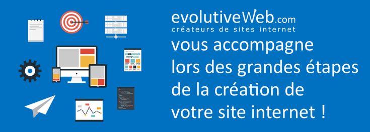 Que ce soit pendant la réflexion, l'hébergement, la création graphique, la conception, le référencement... evolutiveWeb.com vous accompagne dans les grandes étapes de la création de votre site internet : http://www.evolutiveweb.com/actualites/articles/evolutiveweb-com-vous-accompagne-dans-les-grandes-etapes-de-la-creation-de-votre-site-internet-92.html