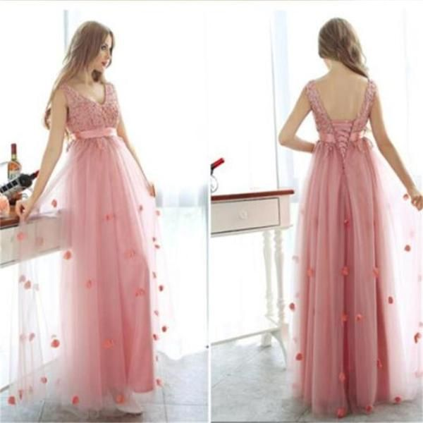 Charming Tulle Lace Up Custom Popular Party Newest Prom Dresses Online,PD0090 The dress is fully lined, 4 bones in the bodice, chest pad in the bust, lace up back or zipper back are all available, tot