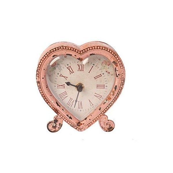 Sass Belle Boudoir Heart Clock, Pink/ Beige (2165 RSD) ❤ liked on Polyvore featuring home, home decor, clocks, heart home decor, pink home decor, romantic home decor and pink clock