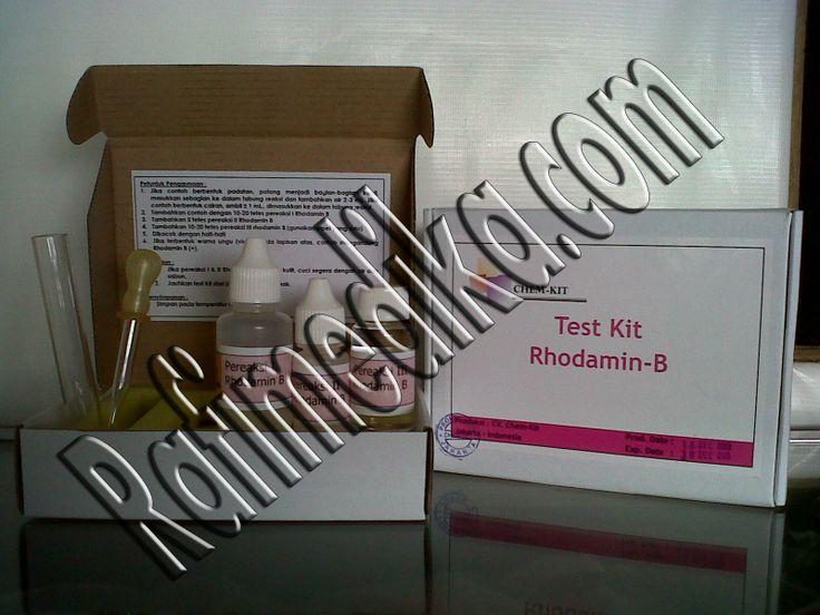 Test Kit rhodamin b chemkit sudah digunakan di BPOM indonesia hubungi 087774050806